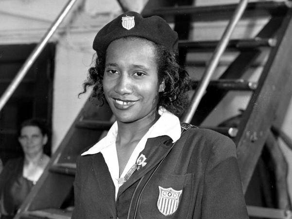 Alice Coachman, shown in August 1948.