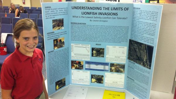 Lauren Arrington's sixth-grade research project is cited in a science journal.