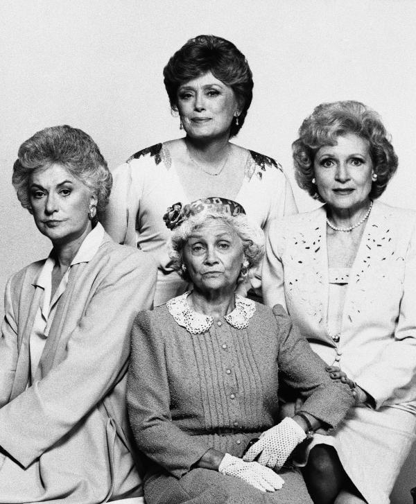In true kick-ass<em> Golden Girls </em>fashion<em>,</em> Dorothy (Bea Arthur, clockwise from left), Blanche (Rue McClanahan), Rose (Betty White) and Sophia (Estelle Getty) showed us how utterly human we all are at any age.