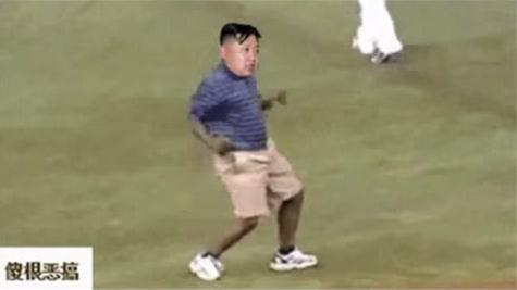 An online video that edits North Korean leader Kim Jong Un's face into dance and fight scenes has sparked a request to take it down.