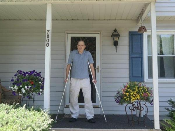 Bill Binney, shown here on the front porch of his Maryland home in suburban Washington, D.C., worked for the NSA for three decades. He quit when he learned the agency was using software he created for domestic surveillance.