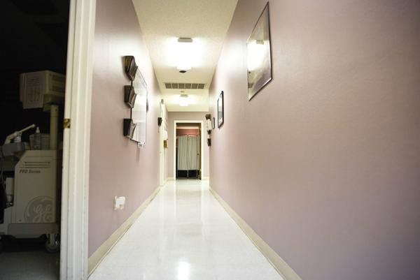 A hallway at the Whole Woman's Health clinic in Austin. The clinic, one of 22 remaining abortion providers in the state, does not currently meet requirements that will take effect on Sept. 1.