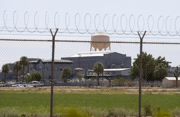 A fence surrounds the state prison in Florence, Ariz. Joseph Rudolph Wood was executed. (AP)