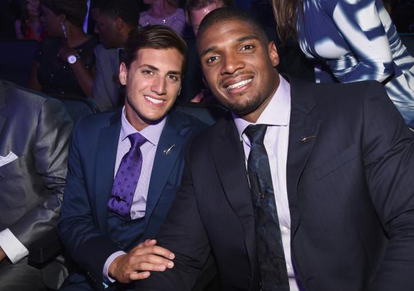 Vito Cammisano and NFL player Michael Sam attend the 2014 ESPYS at Nokia Theatre L.A. Live on July 16, 2014 in Los Angeles, California. (Michael Buckner/Getty Images For ESPYS)