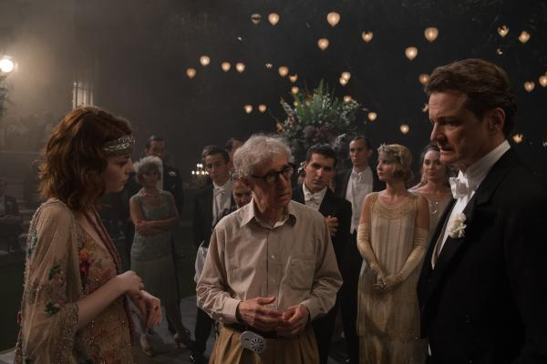 "Woody Allen directs --€"" that's right, <em>directs</em> --€"" Colin Firth and Emma Stone in <em>Magic in the Moonlight.</em>"