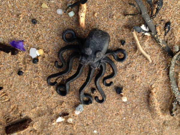 This Lego octopus was found in a cave in south Devon, England, in the late 1990s.