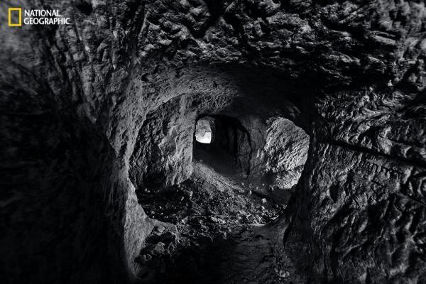 The deadlock of trench warfare led both sides to tunnel beneath enemy positions and plant explosives. In the Oise Valley, German engineers dug this secret network of tunnels beneath the French front lines. On January 26, 1915, they detonated a charge that killed 26 French infantrymen and wounded 22. (From the August issue of National Geographic magazine, © Jeffrey Gusky/National Geographic)