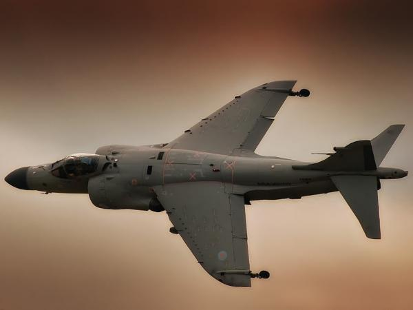 Art Nalls flies his rare 1979 Sea Harrier.  Since he restored it, Nalls has flown it at air shows across the country.