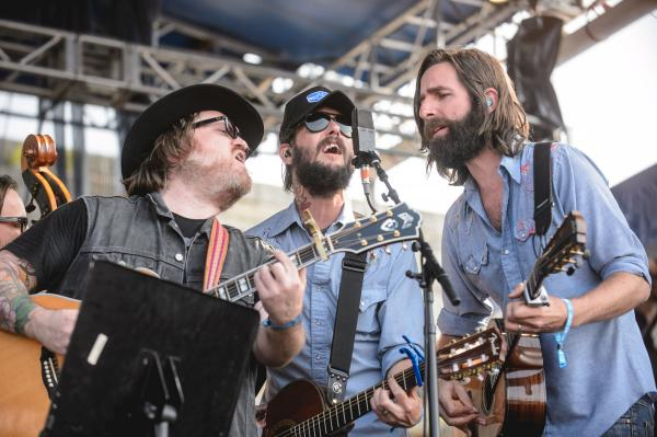 We're not sure what was more impressive: Band of Horses' songs, beards or vintage microphones.