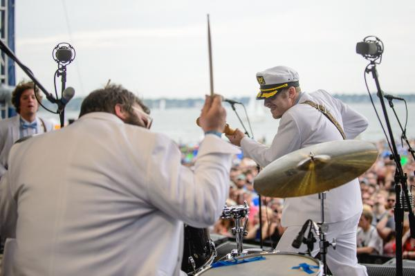Deer Tick performs at the 2014 Newport Folk Festival.