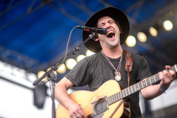 Conor Oberst performs at the 2014 Newport Folk Festival.