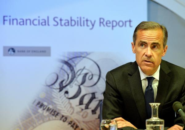 Governor of the Bank of England Mark Carney delivers the Bank of England Financial Stability Report to reporters in London on June 26, 2014. (John Stillwell/AFP/Getty Images)