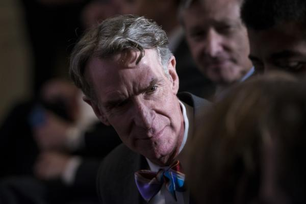 Bill Nye, popularly known as the Science Guy, attends an event in the East Room of the White House on February 28, 2014 in Washington. (Brendan Smialowski/AFP/Getty Images)