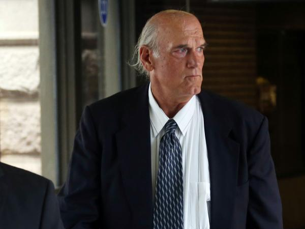 Ventura is seen at the federal building in St. Paul, Minn., on July 8, which was the first day of jury selection in his defamation lawsuit.