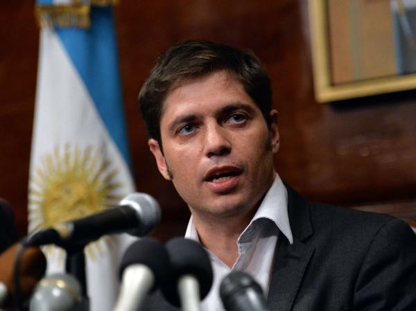 Argentina Economy Minister Axel Kicillof speaks during a news conference at the Argentina Consulate on Wednesday in New York. By the end of the day, a deal had not been reached with the country's creditors.