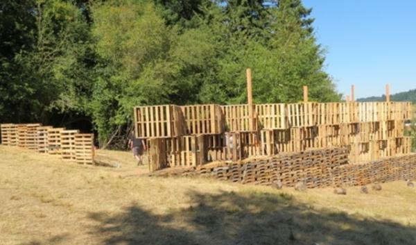 Students at PSU have crafted a stage out of pallets