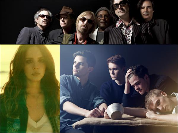 Clockwise from top: Tom Petty & The Heartbreakers, Adult Jazz, Lana Del Rey