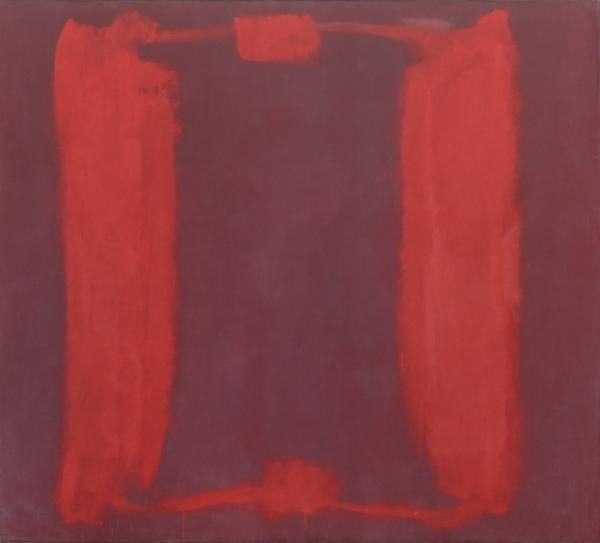 <em>Panel One (Harvard Mural Triptych)</em>, 1962, egg tempera and distemper on canvas.