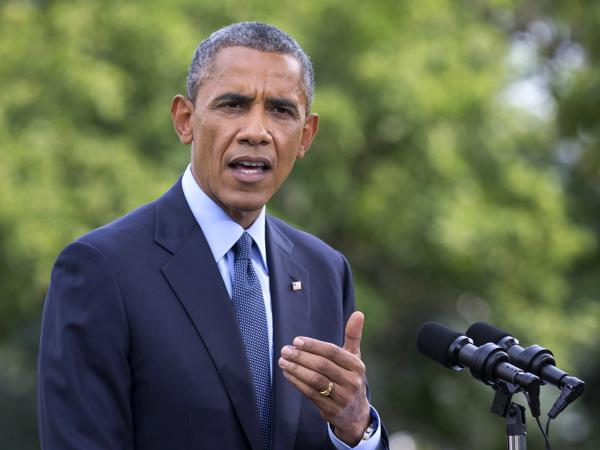 President Obama announced new economic sanctions against Russia at the White House on Tuesday.