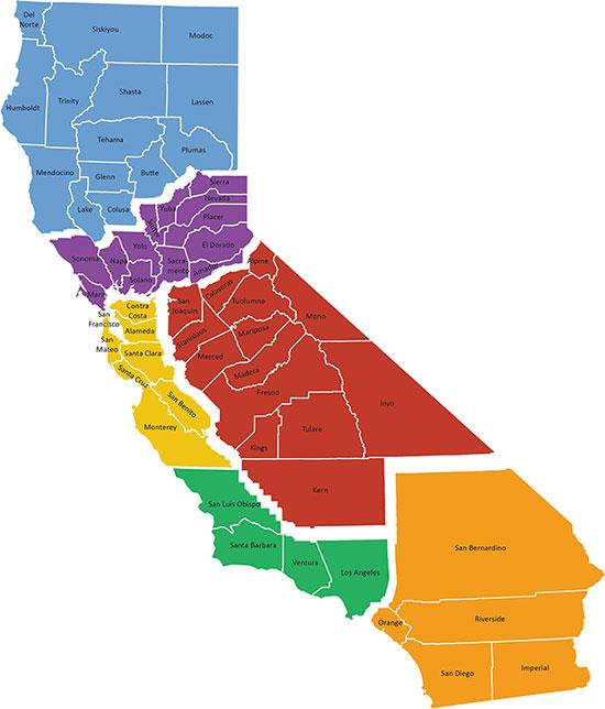 "The ""Six Californias"" campaign is aimed at dividing up the state of California into six separate states. (Click to enlarge. Source: sixcalifornias.com)"