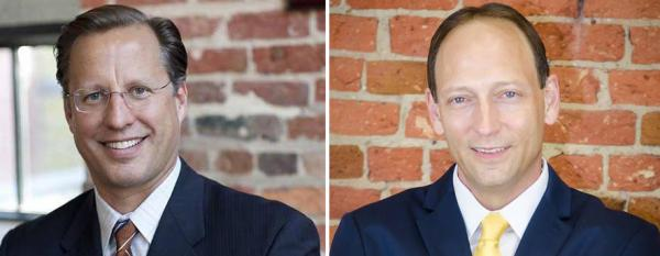 Republican candidate David Brat (left), who defeated Rep. Eric Cantor in the primary, will face Democrat Jack Trammell in November. (Facebook)