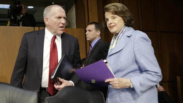 Senate Intelligence Committee Chair Sen. Dianne Feinstein, D-Calif. welcomes CIA Director John Brennan on Capitol Hill in 2013.