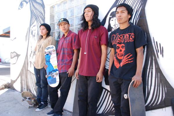 The Apache Skateboards team from the San Carlos Reservation. (Ken Shulman/Only A Game)