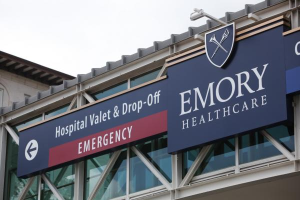 Emory University Hospital is seen on August 1, 2014 in Atlanta, Georgia. (Jessica McGowan/Getty Images)