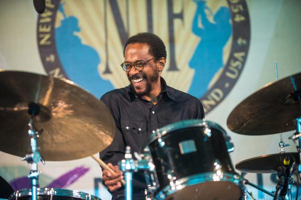 Drummer Brian Blade & The Fellowship Band led off the action on the rainy middle day of the festival. The band released a new album, <em>Landmarks</em>, earlier this year.