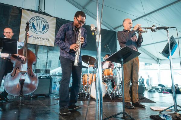 Saxophonist Ravi Coltrane led a quartet featuring longtime associate Ralph Alessi on trumpet.