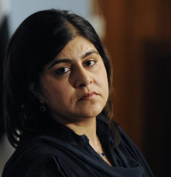 Sayeeda Hussain Warsi, British Senior Minister of State at the Foreign and Commonwealth Office, in 2013.