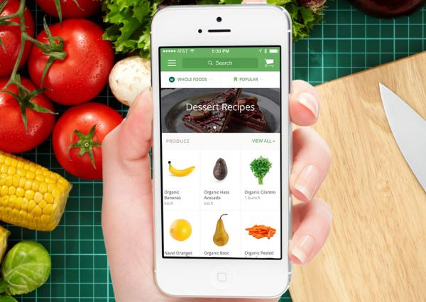 "Instacart is a same-day grocery delivery startup and one of the ""instant gratification"" services Liz Gannes looks at in a Re/code special series. (Instacart)"