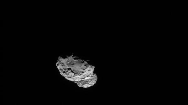 The Rosetta spacecraft took this image of comet 67P/Churyumov-Gerasimenko on 4 August 2014 from a distance of just 145 miles.