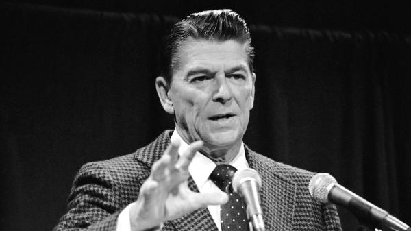 In November 1973, when Ronald Reagan was governor of California, he talked with reporters about Watergate. In the years that followed, he spoke to Americans' anxieties with a simple message about America's inherent greatness.