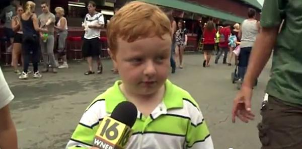 """I don't watch the news because I'm a kid,"" Noah Ritter, 5, said in an interview at the Wayne County Fair in Pennsylvania. He went on to show that he belongs on TV."
