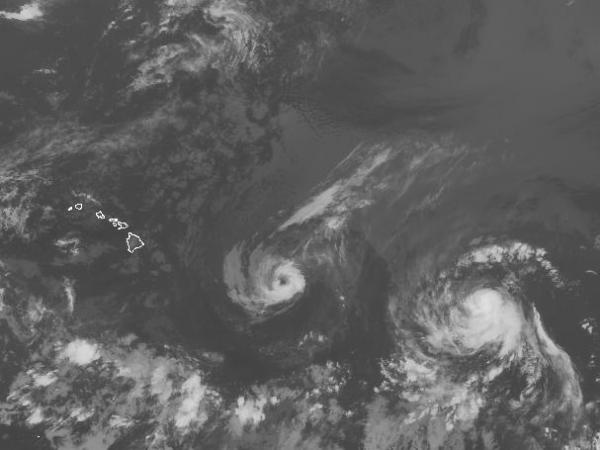 Hurricanes Iselle and Julio approach Hawaii on Wednesday.