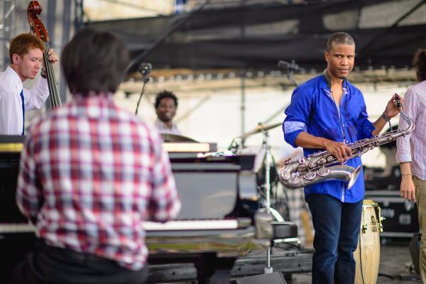 David Sanchez and the Berklee Global Jazz Ambassadors perform at the 2014 Newport Jazz Festival.