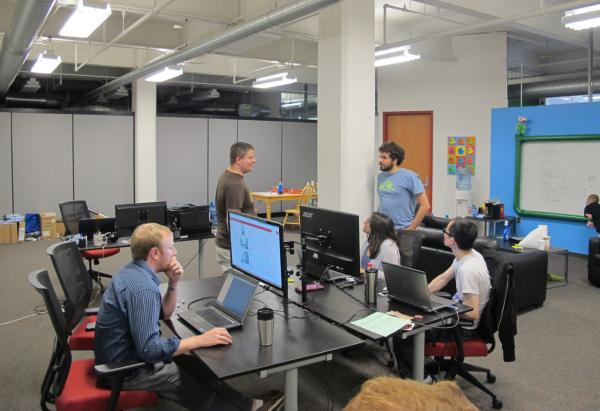 Bill Rice of WCPN paid a visit to the Software Craftsmanship Guild boot camp in Akron, Ohio. (Bill Rice/WCPN)