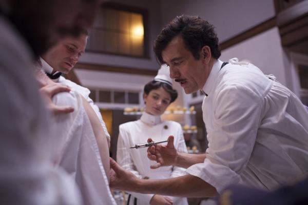 On <em>The Knick</em>, the graphic scenes are riveting, says David Bianculli, though at times you may want to look away. Here, Clive Owen's character administers a shot.