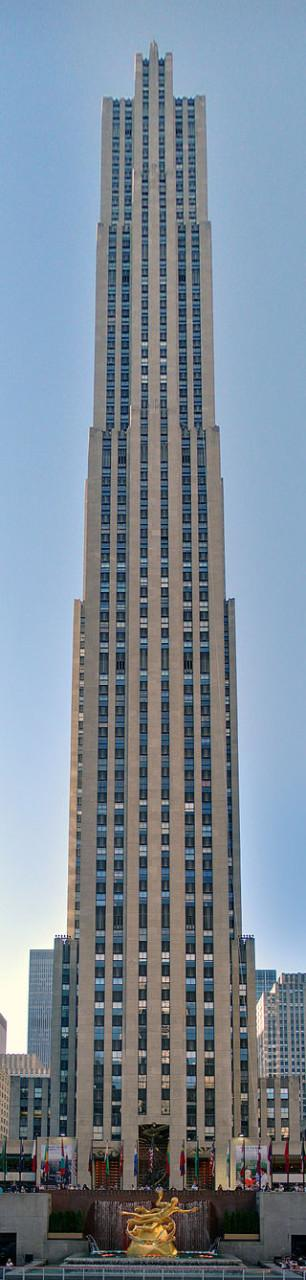 Rockfeller Center's GE Building at 30 Rockefeller Plaza. (Wikimedia Commons)