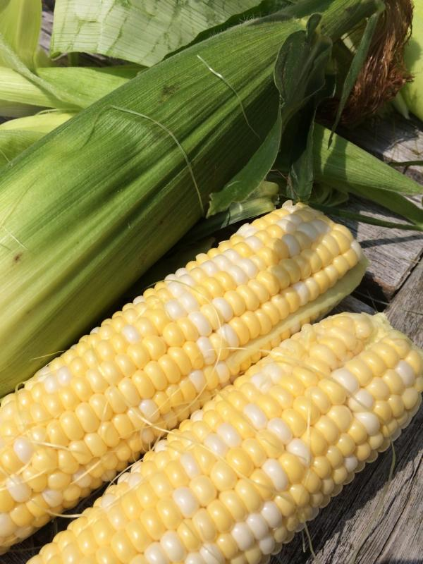 Corn is great both on and off the cob. (Kathy Gunst/Here & Now)