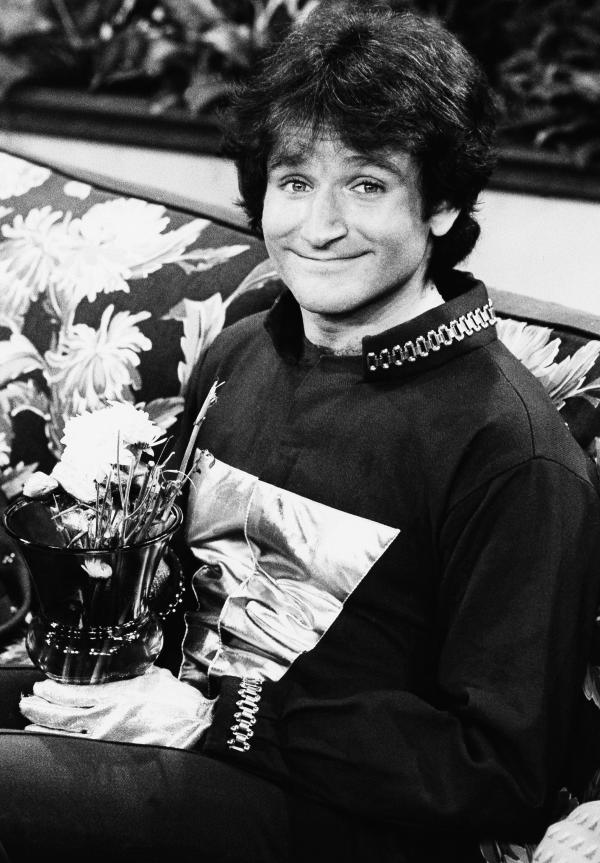 Robin Williams on the set of ABCs <em>Mork & Mindy</em> in April 1978.