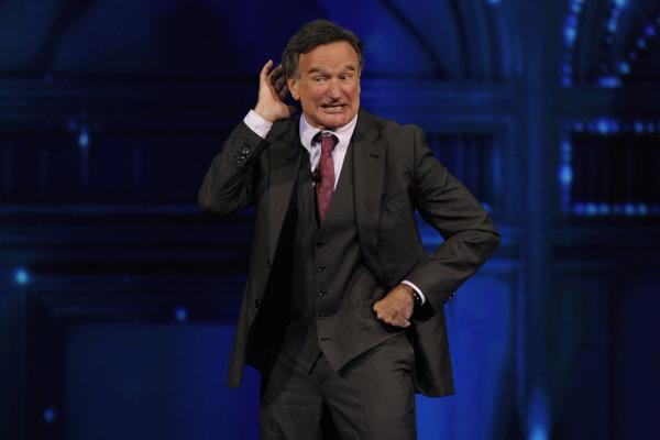 Comedian and actor Robin Williams performs at the CBS Upfront presentation in New York City on May 15, 2013.