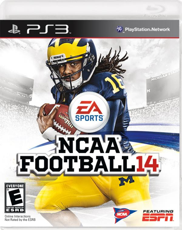 Former University of Michigan quarterback Denard Robinson graces the cover of NCAA Football 14.