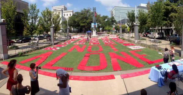 The Monument Quilt in North Boulevard Town Square