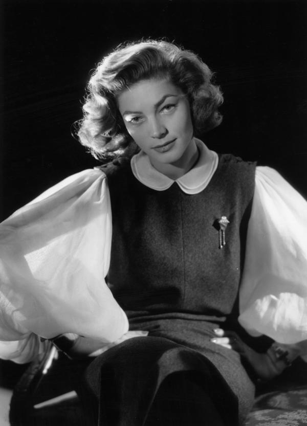 Lauren Bacall in 1951. She had a rich movie and stage career and won Tony awards for <em>Applause</em> and <em>Woman of the Year.</em>
