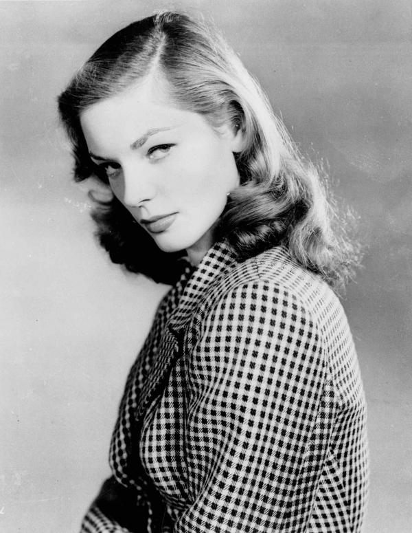 Bacall in 1944, when she first appeared on screen in <em>To Have and Have Not.</em>