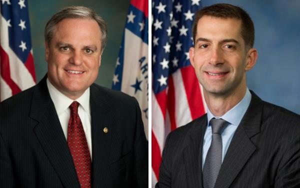 Mark Pryor and Tom Cotton are competing for  a U.S. Senate seat in Arkansas (Wikimedia Commons)