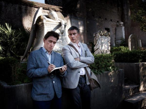 Compared with <em>The Trip,</em> in <em>The Trip to Italy</em> Coogan (right) is gloomier and Brydon is more ambitious.