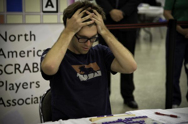 "Conrad Bassett–Bouchard, 24, of Portland, Ore., won the National Scrabble Championship held in Buffalo, N.Y. His winning words included ""florigen."""